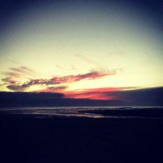 Sun set at Himatangi Beach #NewZealand