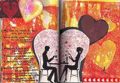 """butterfliecrafter: alpha/dictionary challenge - letter V # gelli print """"love"""