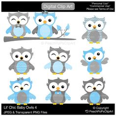 Buy 2 Get 1 Free SALE  cute owl clipart by peachpopsclipart
