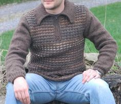 Men's Zipper Sweater | AllFreeKnitting.com