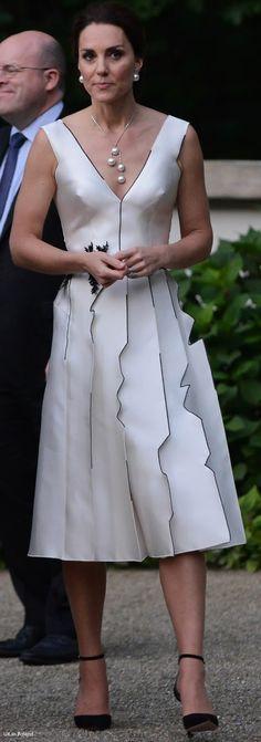 07/17/17 Kate's dress is by Polish designer Gosia Baczynska.