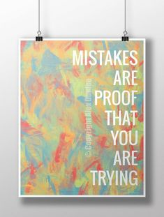 16 Mistakes are proof that you are trying Classroom poster, motivational poster, classroom decoration is part of Art Classroom decor - 4 margins) Art Classroom Decor, Classroom Quotes, Classroom Design, Music Classroom, School Classroom, Art Classroom Posters, Classroom Ideas, Art Teacher Quotes, Art Quotes