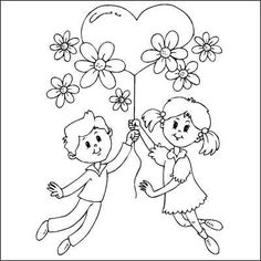 Visual result related to bambina con palloncini disegno - Sınıf - Visual result related to little girl with drawing balloons - Sınıf - Trend Ideas Mothers Day Coloring Pages, Heart Coloring Pages, Coloring Books, How To Draw Balloons, Drawing Balloons, Mother's Day Colors, Mothers Day Flowers, Heart Balloons, Valentine Heart