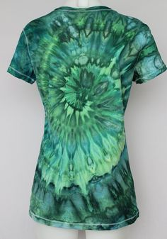Tie Dye T-shirt Ice Dyed V neck tee shirt by ASPOONFULOFCOLORS
