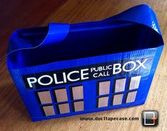 Hey @Louise the Wheeze, here's a TARDIS Duct Tape Bag for you!
