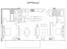 Loft Apartment Design Layout diagram: floor plan of a 2 bedroom apartment flat at the drake