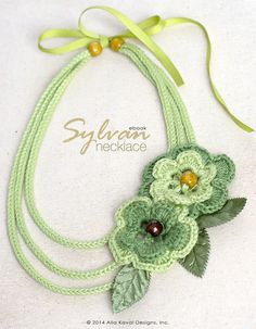 Sylvan Necklace Free Crochet Pattern for Kids and Adult