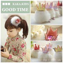 10pcs/lot frete grátis pequena coroa com clips de pérola para meninas crianças crianças vestido da cabeça acessórios de cabelo(China (Mainland))