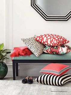 Now you can have DIY decor with fabric lines from your favorite celebrities and designers. These fun, colorful and super chic fabric lines come from Kate Spade, Kelly Ripa, Nate Berkus and Iman. They all come in materials perfect for home decor sewing such as pillows or curtains.