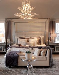 Elegant Bedroom Decor And Style Pictures Photos And: 30 Elegant Master Bedroom Decorating Ideas Master Bedroom Design, Dream Bedroom, Home Decor Bedroom, Bedroom Ideas, Bedroom Furniture, Master Bedrooms, Bedroom Designs, Bedroom Curtains, Bedroom Rustic