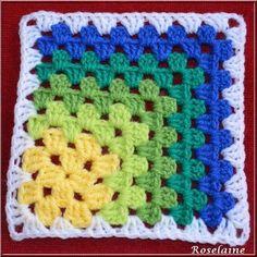 Transcendent Crochet a Solid Granny Square Ideas. Inconceivable Crochet a Solid Granny Square Ideas. Crochet Motifs, Crochet Quilt, Crochet Blocks, Granny Square Crochet Pattern, Afghan Crochet Patterns, Crochet Squares, Crochet Stitches, Knitting Patterns, Granny Squares