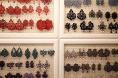 Tità lace earrings in the Milano boutique