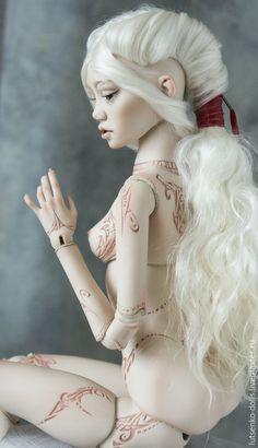 Купить Фарфоровая кукла Марика - бордовый, шарнирная кукла, фарфоровая кукла, коллекционная кукла