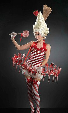 Halloween Outfit Ideen - Victoria's Secret - Show/Contest Costumes - Angels - Dessous - Candy Cane Halloween Outfits, Christmas Costumes, Halloween Fun, Halloween Costumes, Christmas Clothes, Christmas Outfits, Costume Bonbon, Costume Carnaval, Candy Costumes