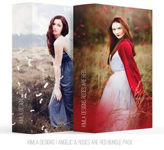 Bundle Red Roses & Angelic Photo Overlays