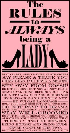 the rules of lady