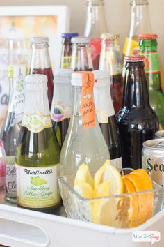 Holiday party bar ideas for designated drivers! A party bar can be a great idea even if it's non-alcoholic!