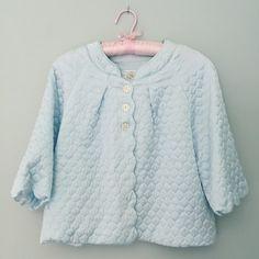 Vintage Medium Frost Blue Bed Jacket - Barbizon