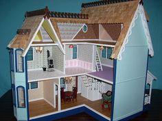 Картинки по запросу домик для кукол из мдф