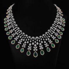 bridal jewelry for the radiant bride Diamond Necklace Set, Diamond Pendant, Emerald Necklace, Gold Jewellery Design, Diamond Jewellery, Sapphire Jewelry, Gold Jewelry, Fine Jewelry, Schmuck Design