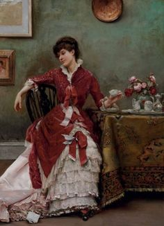 Painting by Julius Leblanc Stewart (1855-1919).