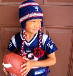 Customized NFL Football Team Hat New England Patriots by leiguzman, $20.00