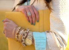 Πως να φορέσεις ρολόι με βραχιόλια!   ediva.gr Women's Watches, Bangles, Bracelets, Jewelry, Fashion, Woman Watches, Moda, Jewlery, Jewerly