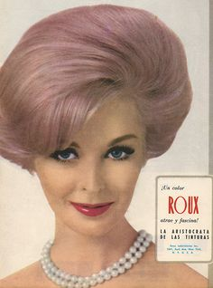 Vintage Pastel Hair Color Lavender 1960s Roux Advertisment