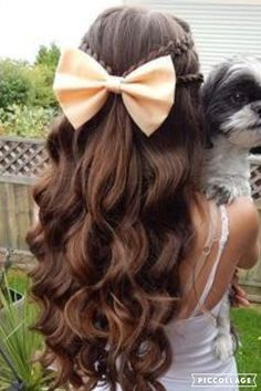 Cute casual hairstyle for anywhere.