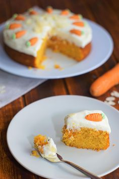 Carrot cake with cream cheese cream - Pumpkin Dessert Food Cakes, Cupcake Cakes, No Bake Desserts, Dessert Recipes, Sponge Cake Recipes, Cake With Cream Cheese, Pumpkin Dessert, Easter Recipes, Carrot Cake