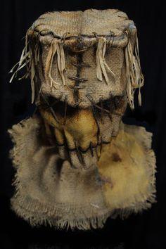 04e Halloween 2020, Halloween Masks, Halloween Crafts, Scarecrow Mask, Burlap Sacks, Scary Mask, Chest Piece, Frankenstein, Helmets