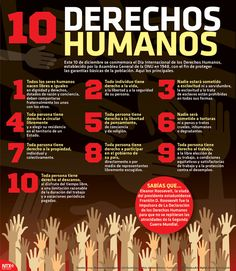 Hoy se conmemora el Día Internacional de los Derechos Humanos, aquí los 10 principales. #Infographic