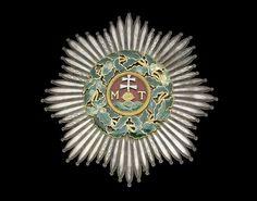 Saint Stephen Order, Grand Cross breast star, 98 x Awarded to Ernst Friedrich Herbert Graf zu Munster Military Decorations, Grand Cross, Saint Stephen, Royal Jewelry, Chivalry, Hungary, Badge, Saints, Auction