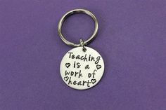 Teacher Keychain Teacher Gift Teaching is by StampedFromMyHeart