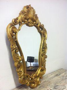 Antiguo Espejo Cornucopia Pan de Oro