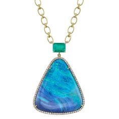 Irene Neuwirth pendant. Opal and emerald