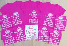 Personalized Name I Can't Keep Calm I'm Getting Married T-Shirt. Mrs Shirt. Funny Bride Gift. Mrs Shirt. Wedding Bride Shirt. Bride V-Neck .... Wedding Bells, Wedding Bride, Wedding Stuff, Our Wedding, Wedding Gifts, Dream Wedding, Wedding Ideas, Bachelorette Ideas, Bachelorette Weekend