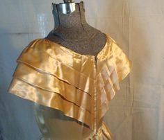 Evening Gown vintage 1930s soft golden by SaffronColoredPony