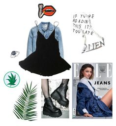 """""""Alien"""" by dre4mland on Polyvore featuring Kerr®, Nika, HAMNETT, Demonia, Disturbia, Effy Jewelry, Olympia Le-Tan, O-Mighty, outfit and grunge"""
