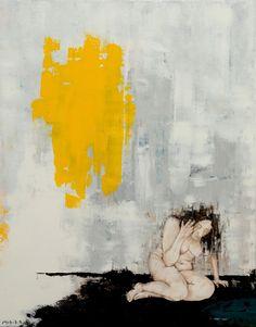 cm Acrylics on canvas Yellow Walls, Acrylic Colors, My Works, The Darkest, Canvas, Artwork, Acrylics, Paintings, Woman