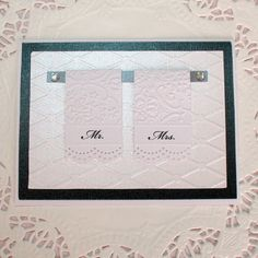 Wedding,  Shower or Anniversary Paper Pieced Card  - Mr. & Mrs. Towels. $4.25, via Etsy.