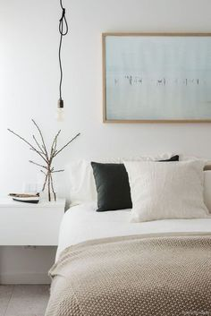 Simple and Impressive Tips Can Change Your Life: Industrial Minimalist Bedroom House Tours minimalist kitchen industrial islands.Minimalist Bedroom Black And White minimalist home ideas shelves.Minimalist Home Ideas Shelves. Bedroom Inspo, Home Decor Bedroom, Bedroom Furniture, Bedroom Ideas, Bedroom Apartment, Bedroom Designs, Dream Bedroom, Bedroom Wall, Calm Bedroom