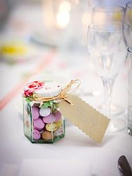 Quirky favour ideas: Mini eggs in mason jars. Indian Wedding Favors, Homemade Wedding Favors, Lace Wedding Invitations, Wedding Favors Cheap, Wedding Favours, Party Favours, Wedding Venue Decorations, Wedding Themes, Wedding Venues