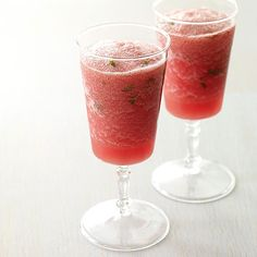 Frozen Watermelon Virgin Mojitos