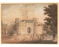 A rare painting of Shaniwar Wada that also depicts some of the buildings inside the Palace Walls. Painting from the year 1820 by Neil Cormack - The Delhi Gate of the Shaniwarwada... on MutualArt.com #Pune