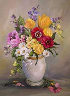 pinturas de flores al oleo - Google'da Ara