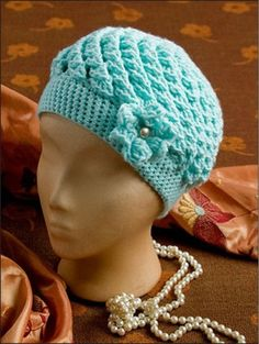 "This pattern is one of many in a book by Annie's Attic, ""Chemo Caps and Wraps"", for $14.95."