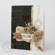 over-stamping in black on black paper -Shari Carroll...my world: June Card kit Cards