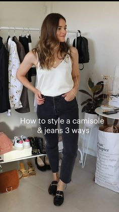Chill Outfits, Spring Outfits, Casual Outfits, Wardrobe Ideas, Capsule Wardrobe, Dark Wash Jeans, Black Jeans, Outfit Goals, Outfit Ideas