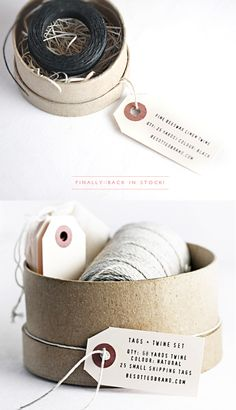 Beeswax twine + Tags & Twine set back in stock!
